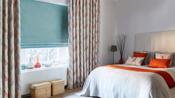 Zen-collection-Tranquility-Curtains-with-Tetbury-Duck-Egg-Roman-blind