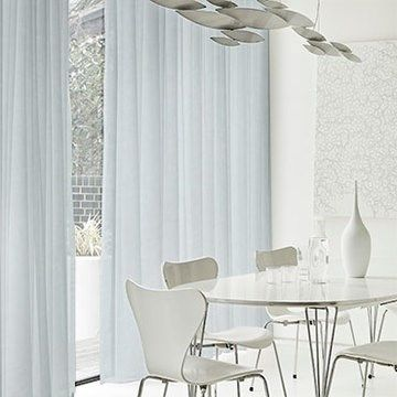 Serene Chalk White Voile Curtain in the Dining room