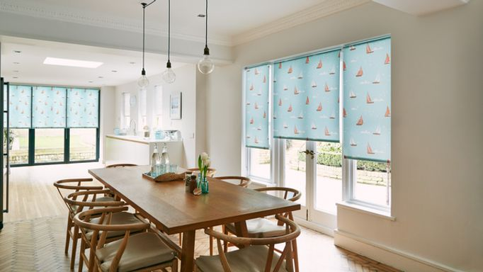 Boats-Teal-Roller-blinds