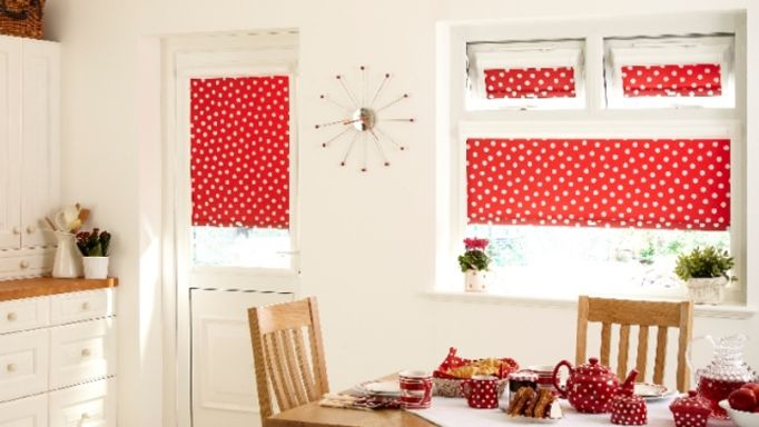 Polka Red PerfectFit Roller blind