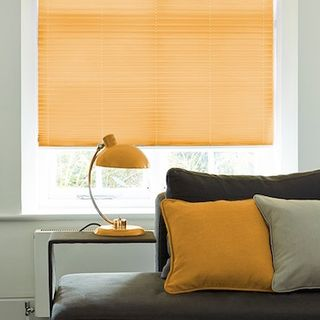 Pleated Blind_Salerno Orange_Roomset