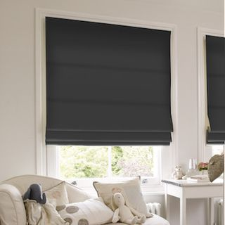 Roman Blind_Islita Charcoal_Roomset
