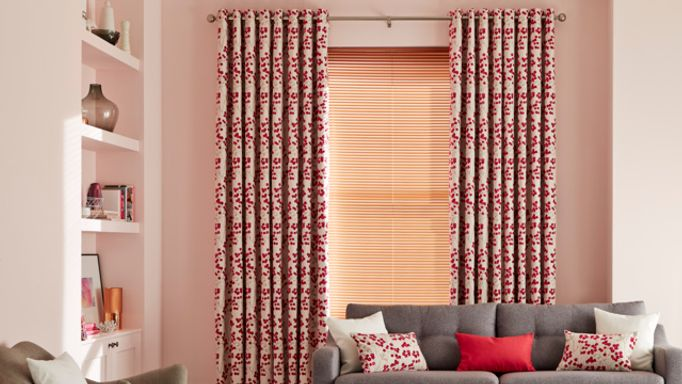 Living room with Nova Eyelet Curtains