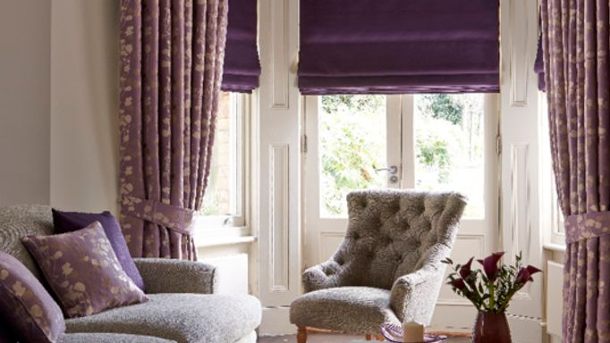 purple-roman-blind-and-curtains