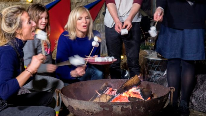 Jo-Whiley-collaboration-outdoor-cameo-toasting-marshmallows