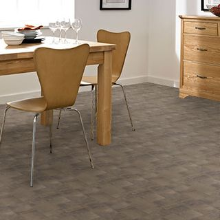 Roomset - Homestyle Vinyl Iron Tile Grey