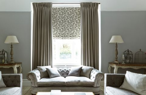 Harlow Charcoal curtains-with-Aurella Ash-roman-blinds