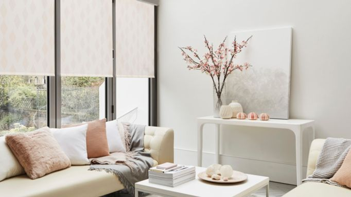 House Beautiful Periscope Blush Roller blind