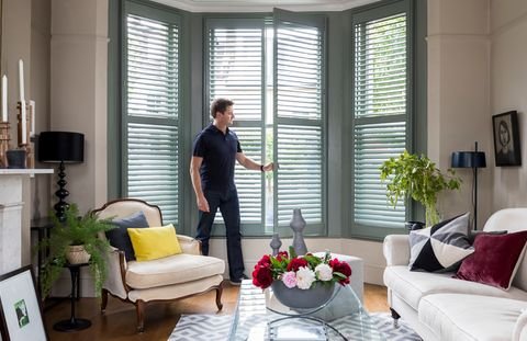 George Clarke Custom colour full height shutters