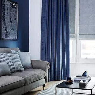 Curtain Fascination Denim Roomset
