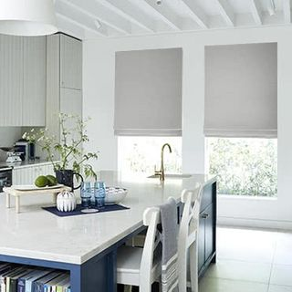 Roman Blind Huxley Dove Grey