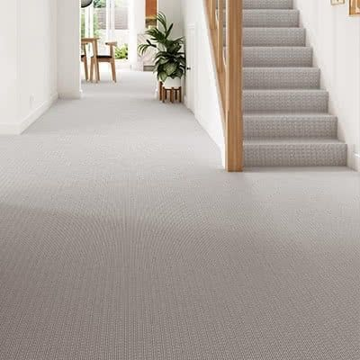 Grey-cream-carpet-hallway-stairs-bridgford-stripe-ember