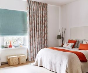 pinch pleat curtains in the bedroom - tranquillity dawn pinch pleat made to measure