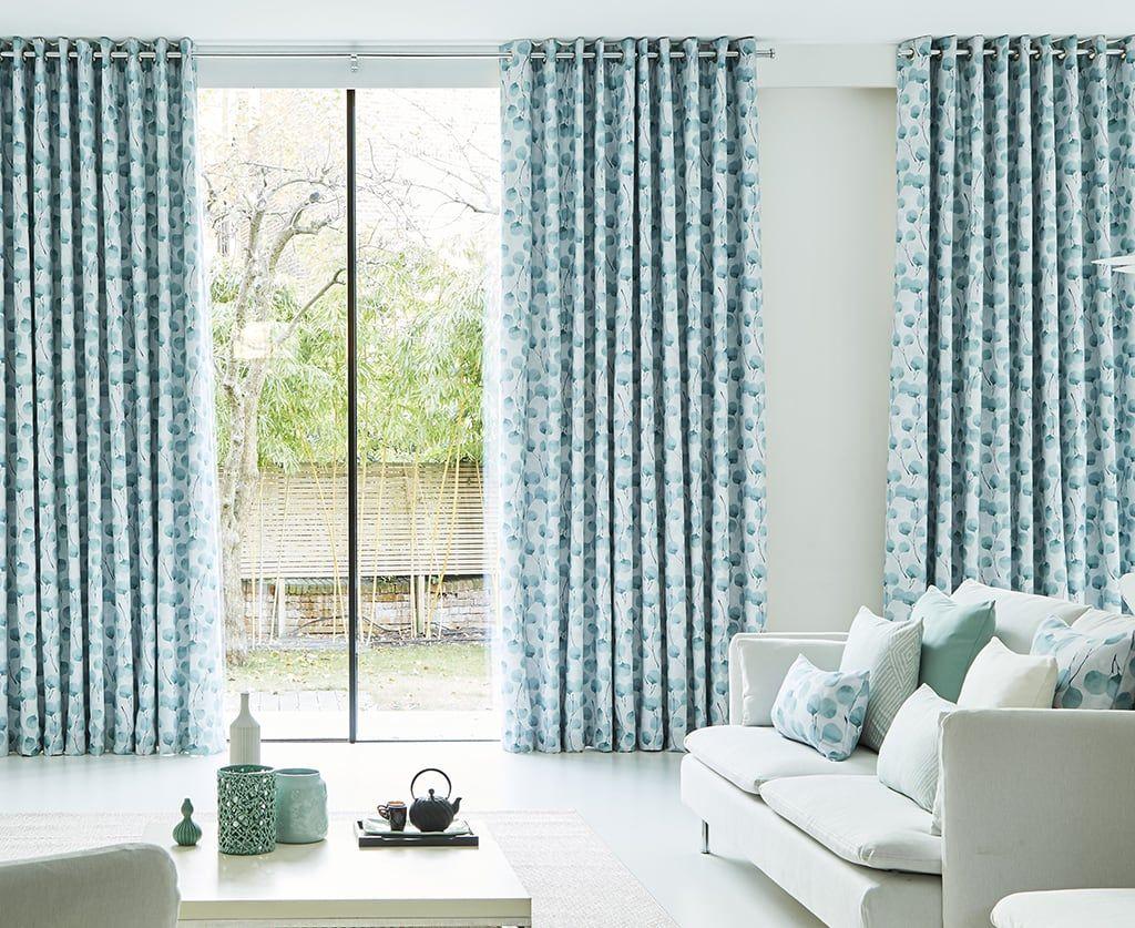 Blue Curtains Living Room Honesty Mist
