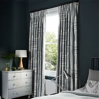 Geometro Slate Curtains