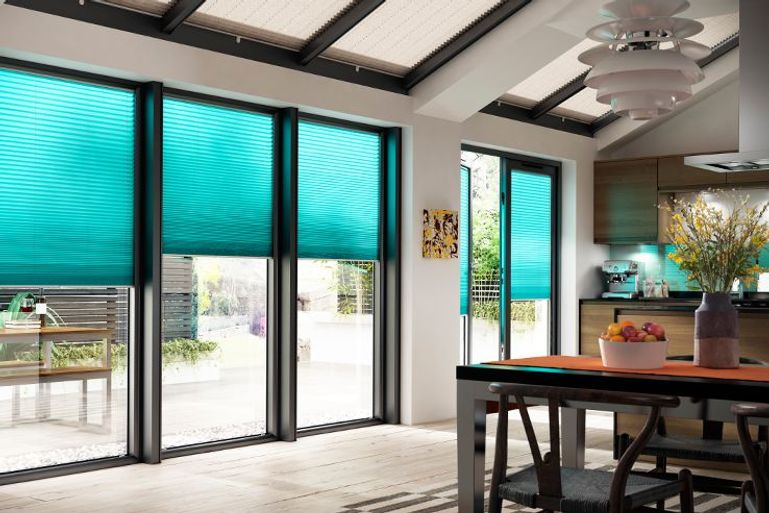 Blue Perfect fit blinds