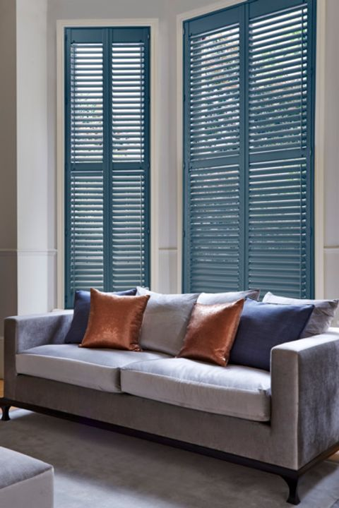 Custom Colour shutters from the Richmond range.