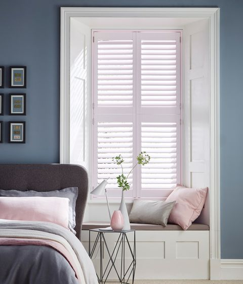 House Beautiful - Chalk Pink Window Shutters