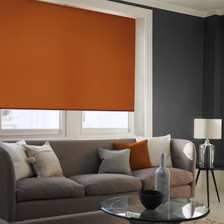 Acacia spice roller blind