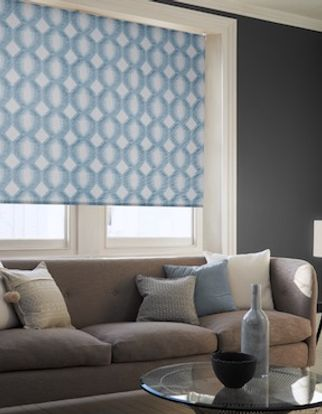 Brindle denim drift roller blind