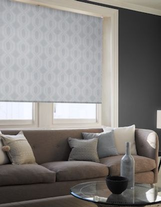 Brindle grey roller blind