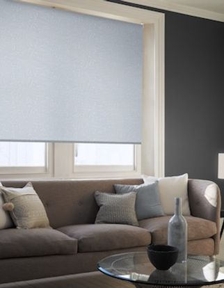 Brooklyn denim drift roller blind