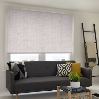 Kirkby dusty pink roller blind