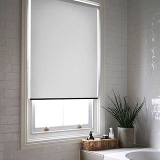 Purity white roller blind