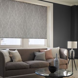 Twigs grey roller blind