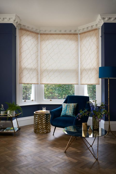 Patterned Roller Blind_Zimmer Gold_Living Room