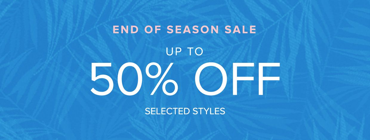 End of season sale 50% off