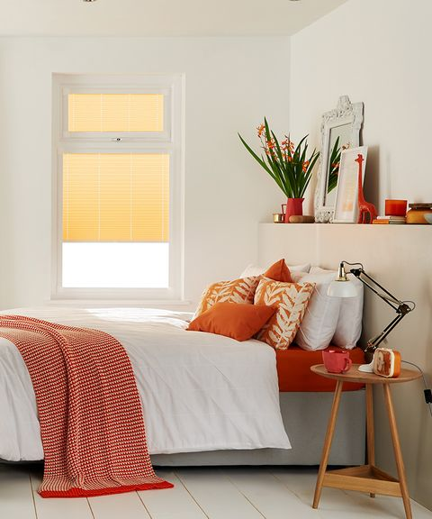 Yellow-Perfect-Fit-Pleated_Bedroom_Salerno-Orange