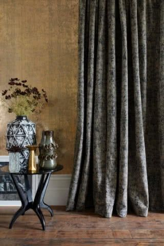 Rustic room with Abigail Ahern collection curtains