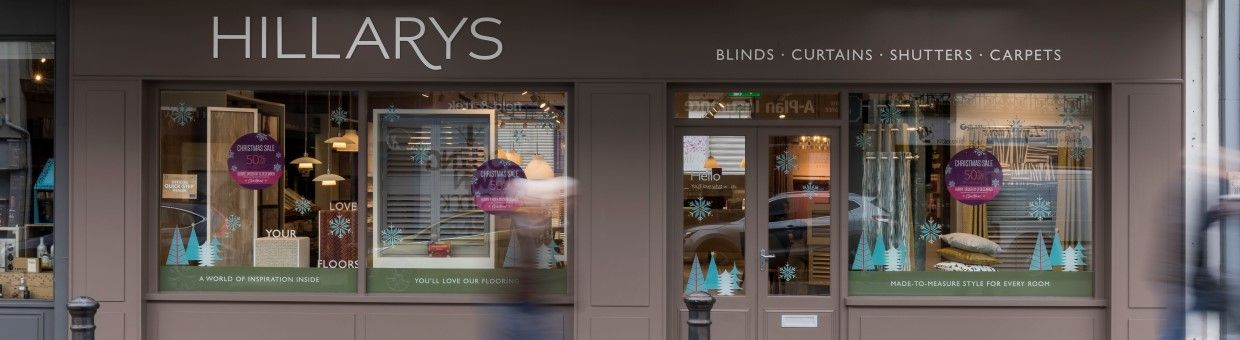 Landscape image of the Hillarys Guildford Showroom shop front