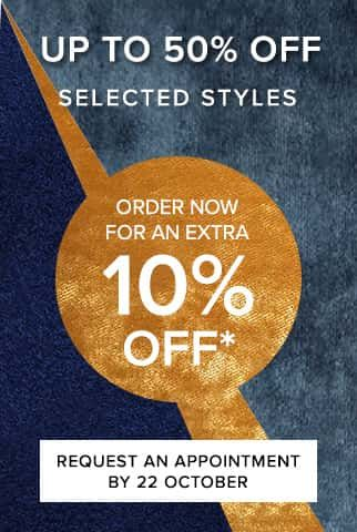 Spring sale on now. Save up to 50% off selected styles and an extra 10% off your order