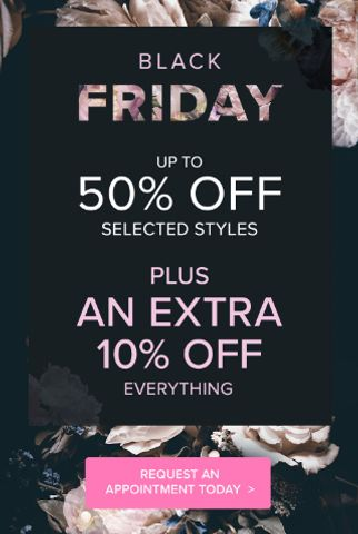 black friday up to 50 percent off plus an extra 10 percent off everything