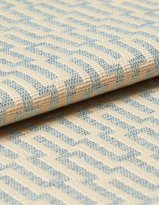 Abacus Sky Blue Roman Blind and Curtain