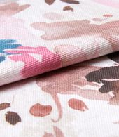 Caprice Soft Pink Roman Blind and Curtain