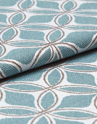 Eclipse Teal Roman Blind and Curtain