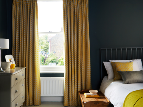 Eclipse Mimosa curtains in bedroom