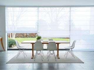 Crystal Ice Voile blind in dining room
