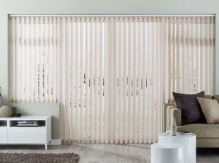 Pattie Natural Vertical blind in living room