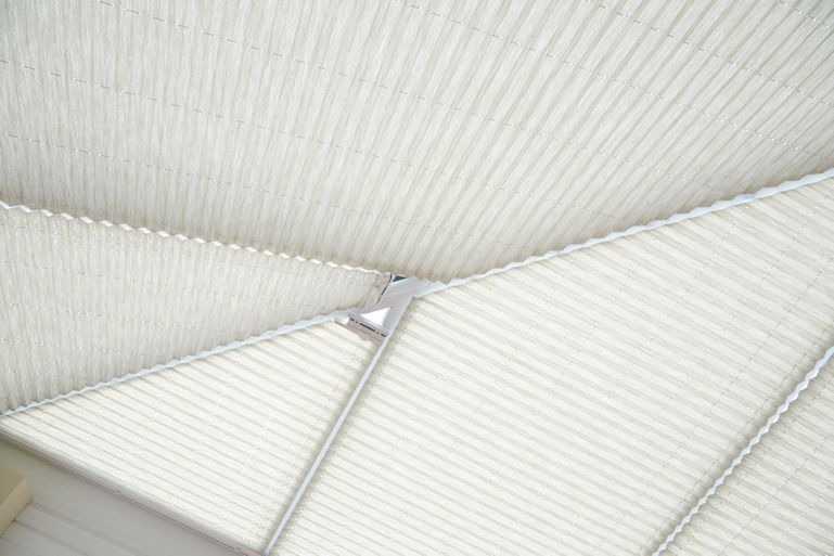Montoya Umber Conservatory roof blinds in conservatory roomset