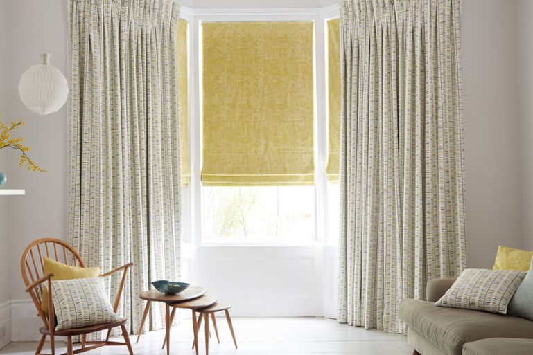 Malva Citron Curtain in living room
