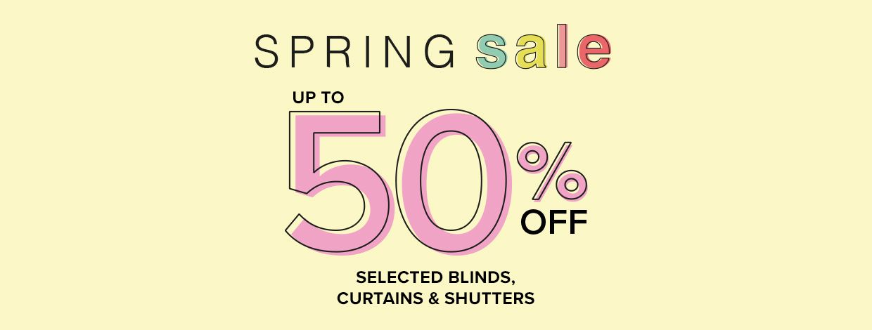 Spring sale, up to 50% off selected styles
