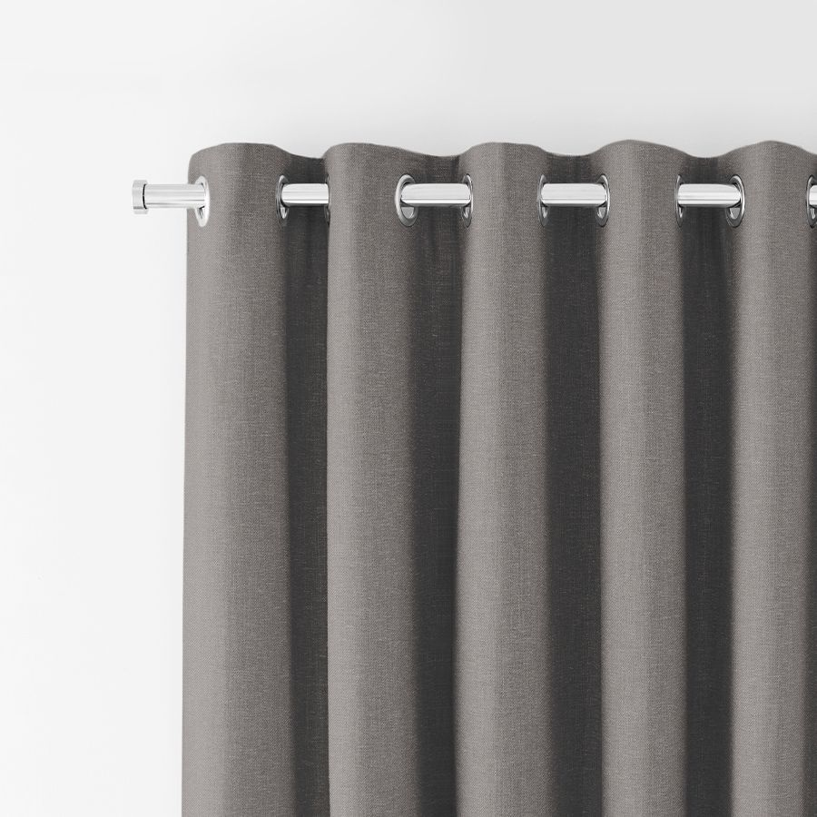 Eyelet curtains in Tetbury Charcoal