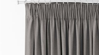 Pencil pleat curtains in Tetbury Charcoal
