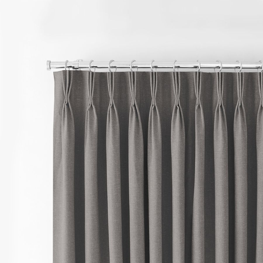 Pinch pleat curtains in Tetbury Charcoal