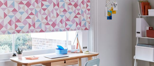 Urban Sugar Blush Roller blind