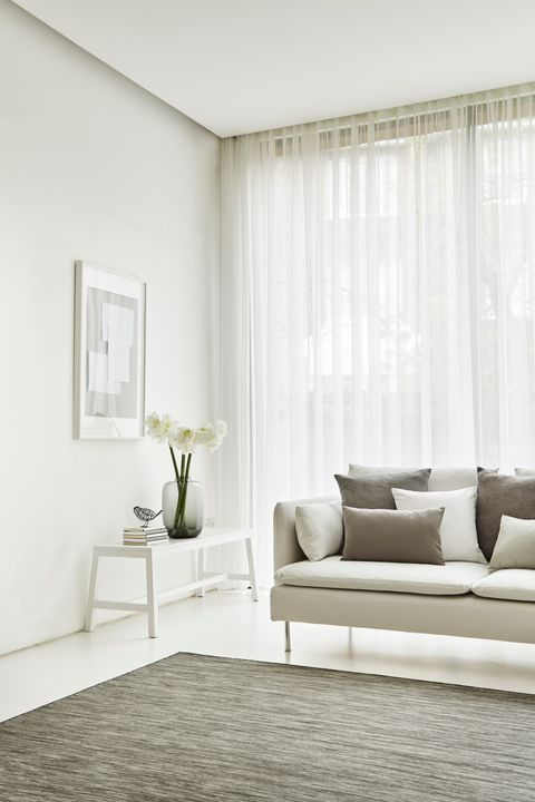 Crystal Ecru Voile Curtains